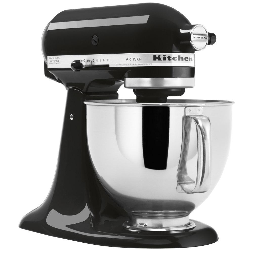 KitchenAid KSM150PSOB Onyx Black Artisan Series 5 Qt