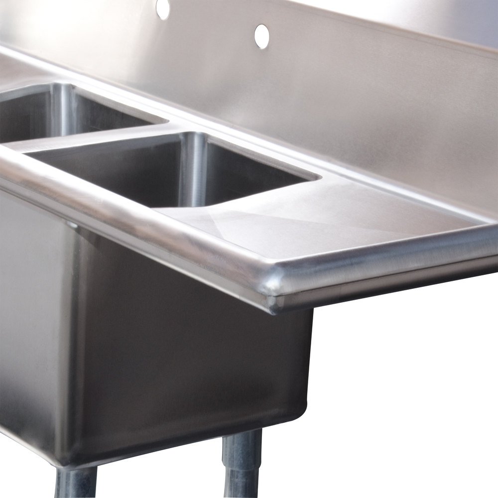 ... Commercial Sink with Two Drainboards - 10