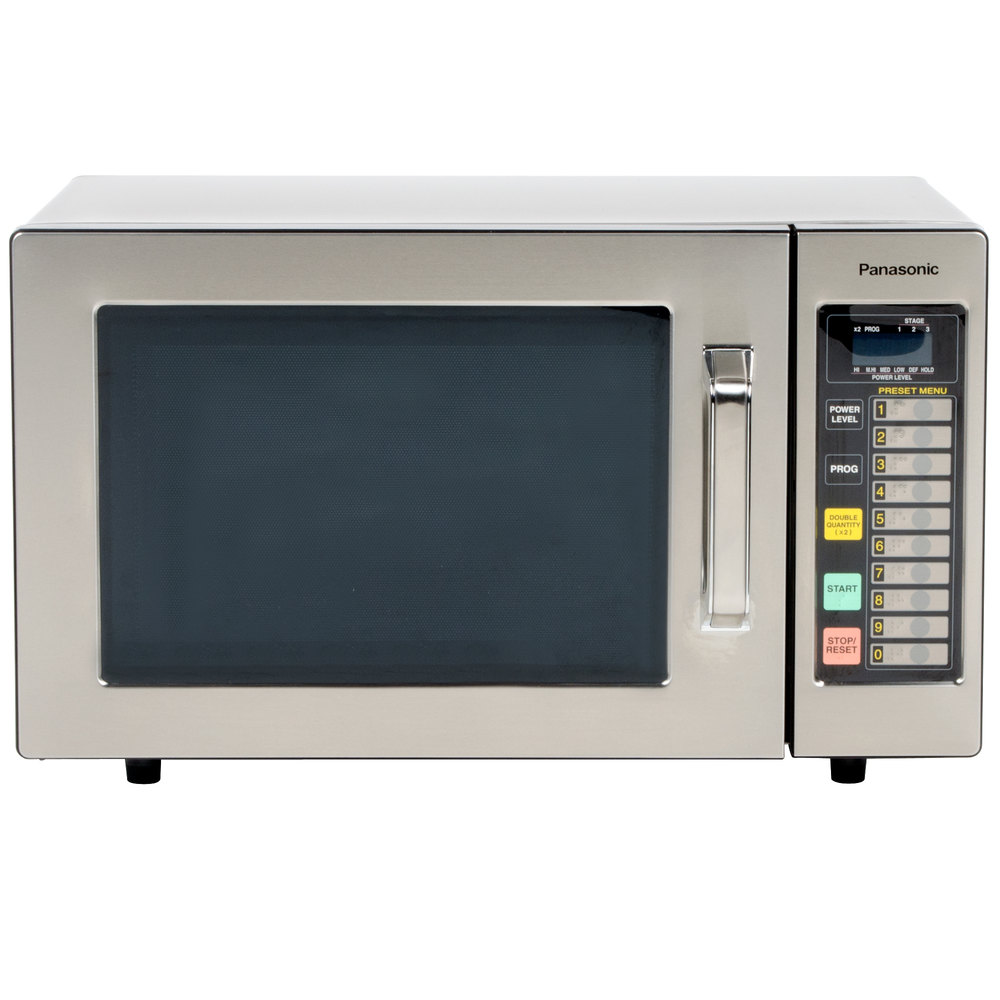 Microwave Oven Stainless Steel ~ Panasonic ne f stainless steel commercial microwave