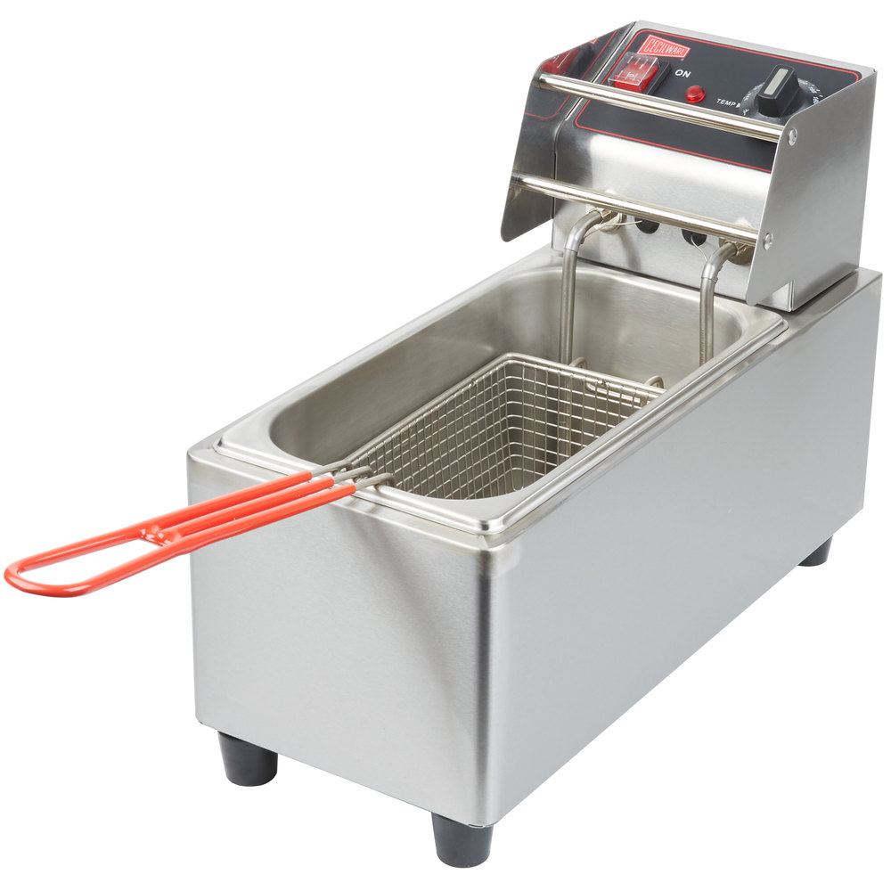 Countertop Deep Fryer : ... Commercial Countertop Deep Fryer with 6 lb. Fry Tank - 120V, 1800W