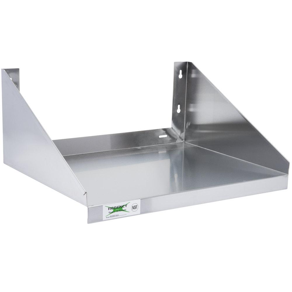 Regency 24 Quot X 18 Quot Stainless Steel Microwave Shelf