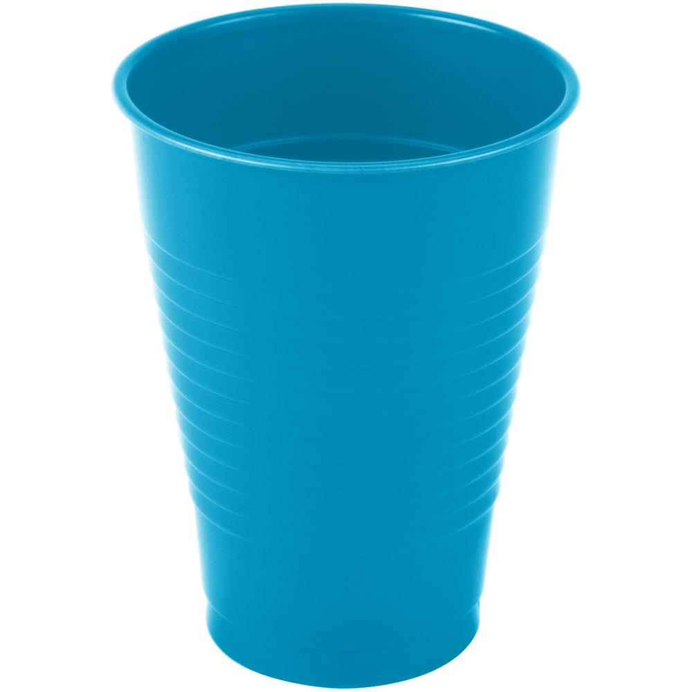 Creative Converting 28313171 12 Oz Turquoise Blue Plastic