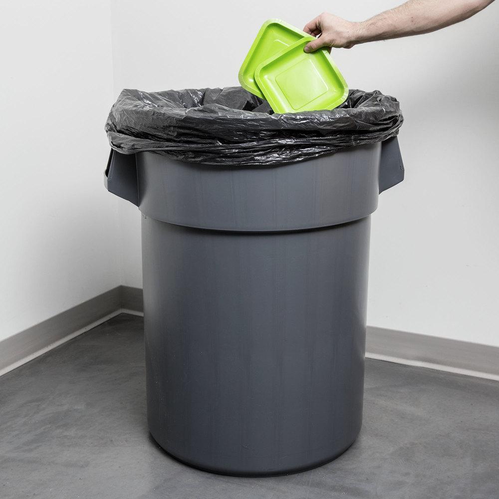 55 gallon gray trash can. Black Bedroom Furniture Sets. Home Design Ideas