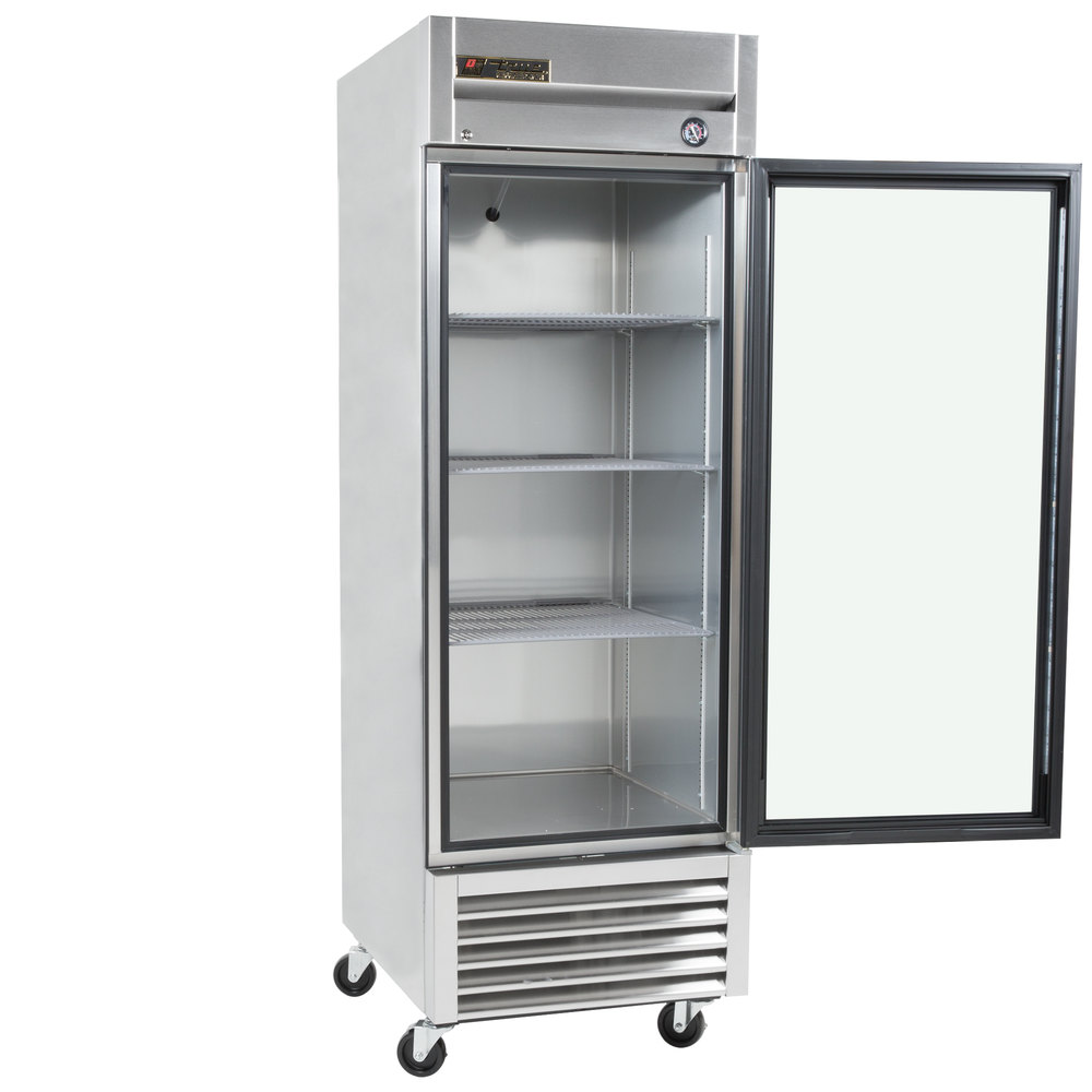 True t 23g ld one section glass door reach in refrigerator for 1 glass door refrigerator