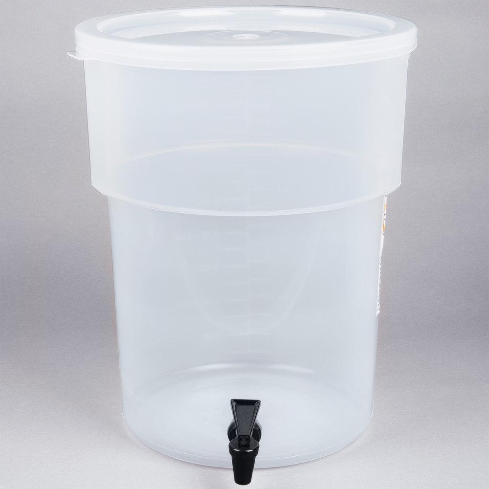 Carlisle 220930 5 Gallon See Thru Round Beverage Dispenser