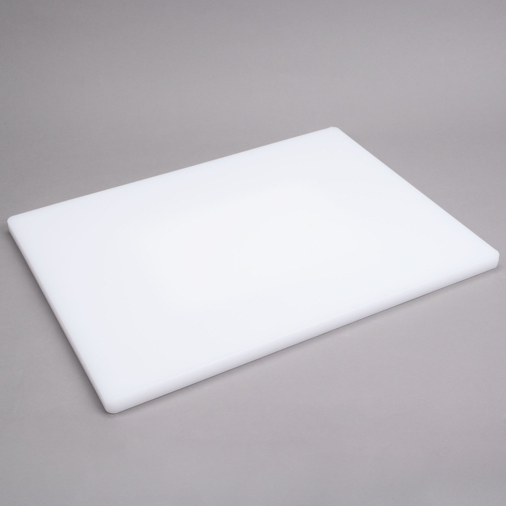 15 x 20 x 3 4 white poly cutting board for White cutting board used for