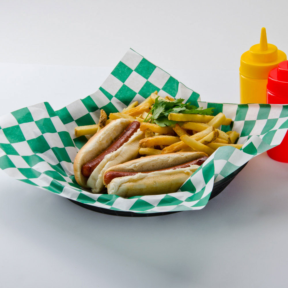 Sandwich Wrapping Paper : Choice quot green check deli sandwich wrap paper