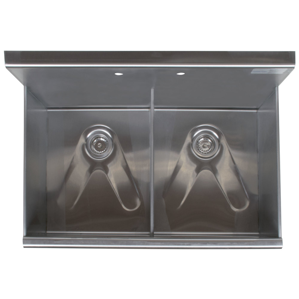 ... Tabco 6-2-36 Two Compartment Stainless Steel Commercial Sink - 36