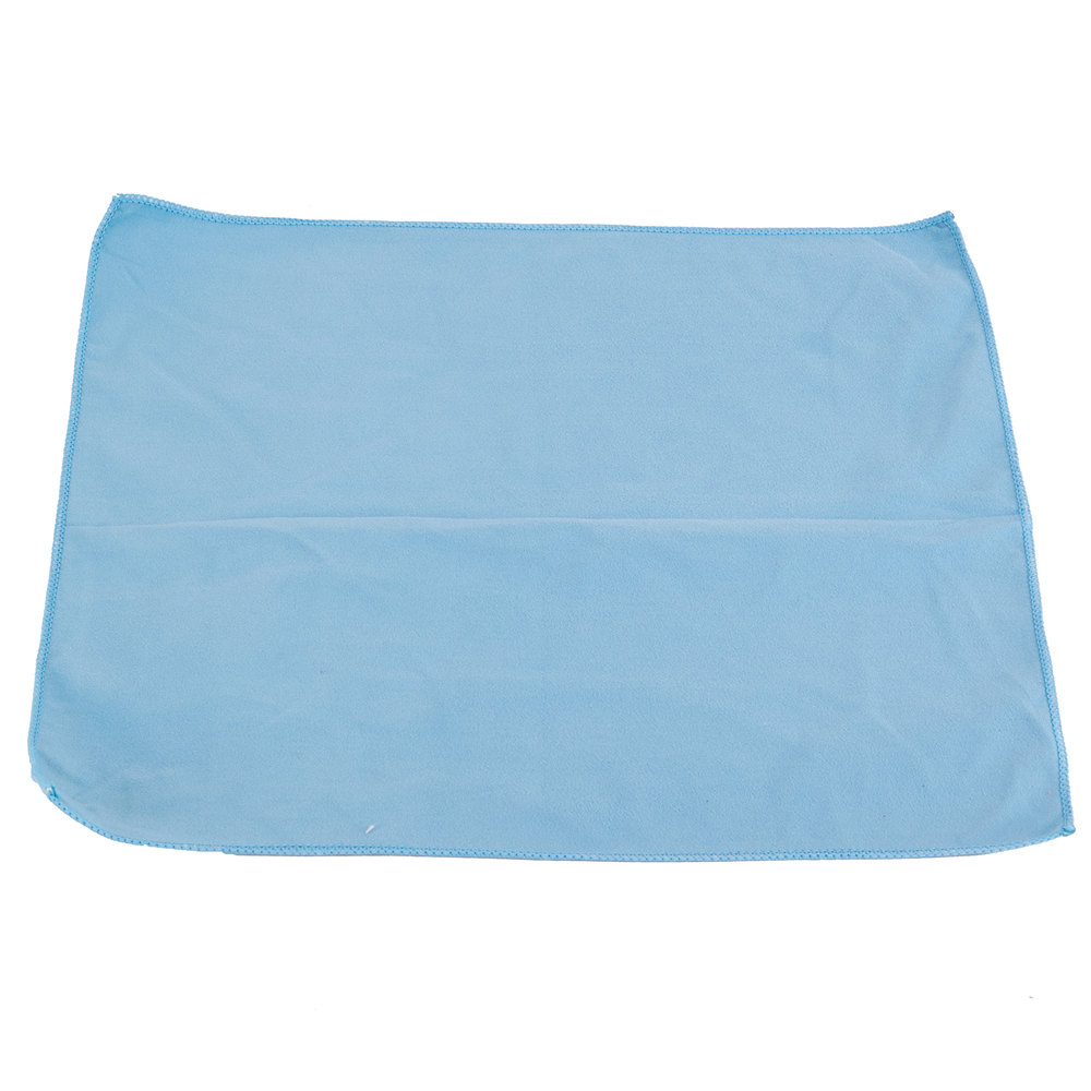 "Microfiber Cleaning Cloth Pattern: 15"" X 15"" Blue Microfiber Glass / Fine Polishing Cloth"