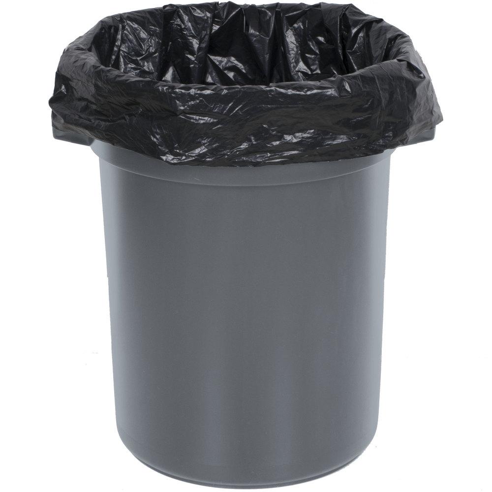 32 Gallon Gray/Black Trash Can
