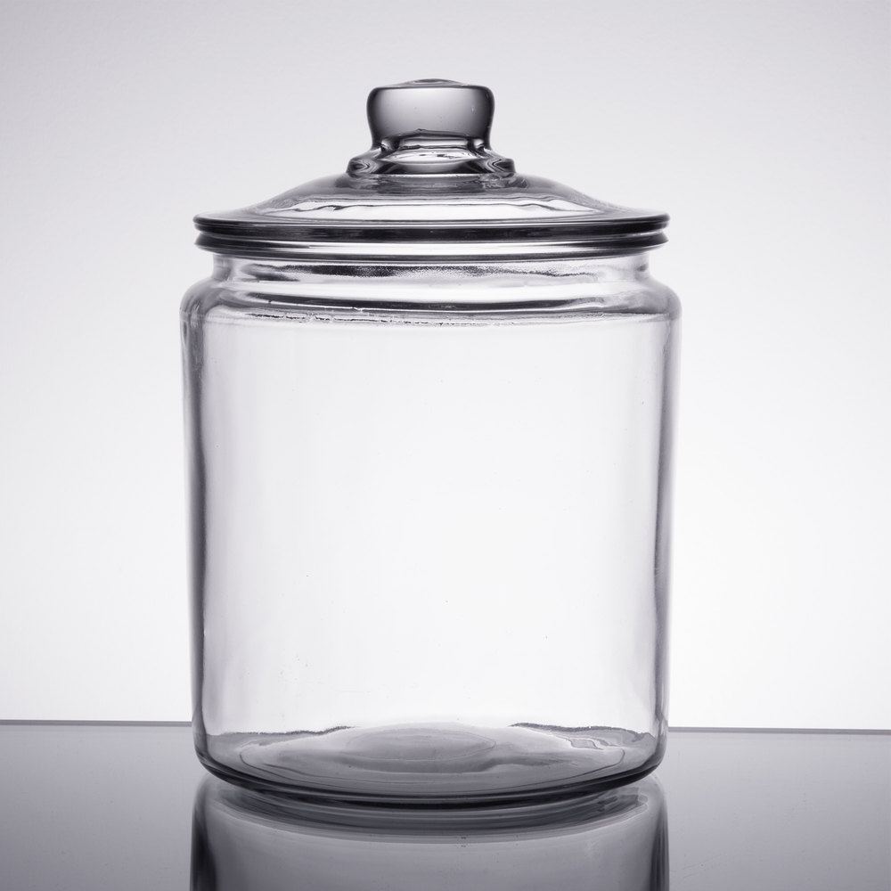Anchor Hocking 85545R 1/2 Gallon Glass Jar With Lid