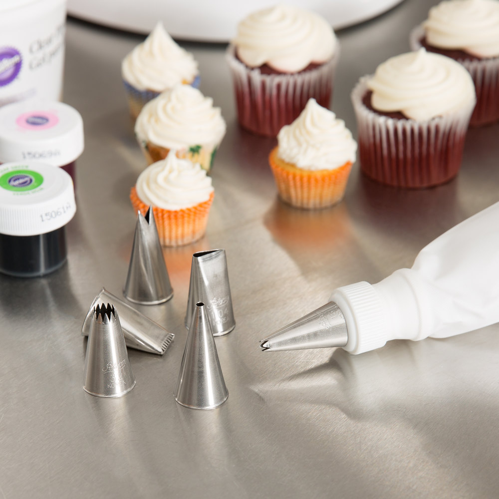 ateco 334 8 piece stainless steel pastry tube decorating