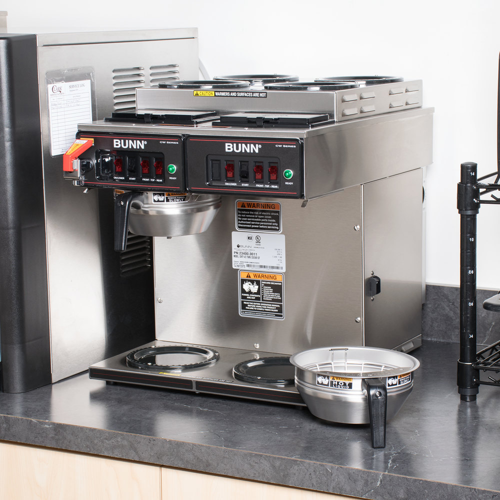 Bunn 23400.0011 CWTF 4/2 Twin 12 Cup Automatic Coffee Brewer with 4 Upper and 2 Lower Warmers ...