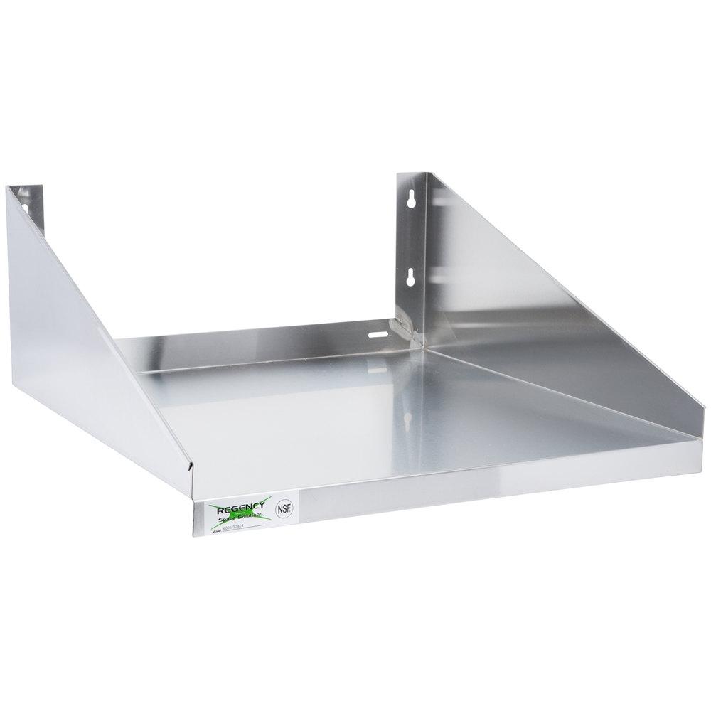 regency 24 x 24 stainless steel microwave shelf. Black Bedroom Furniture Sets. Home Design Ideas