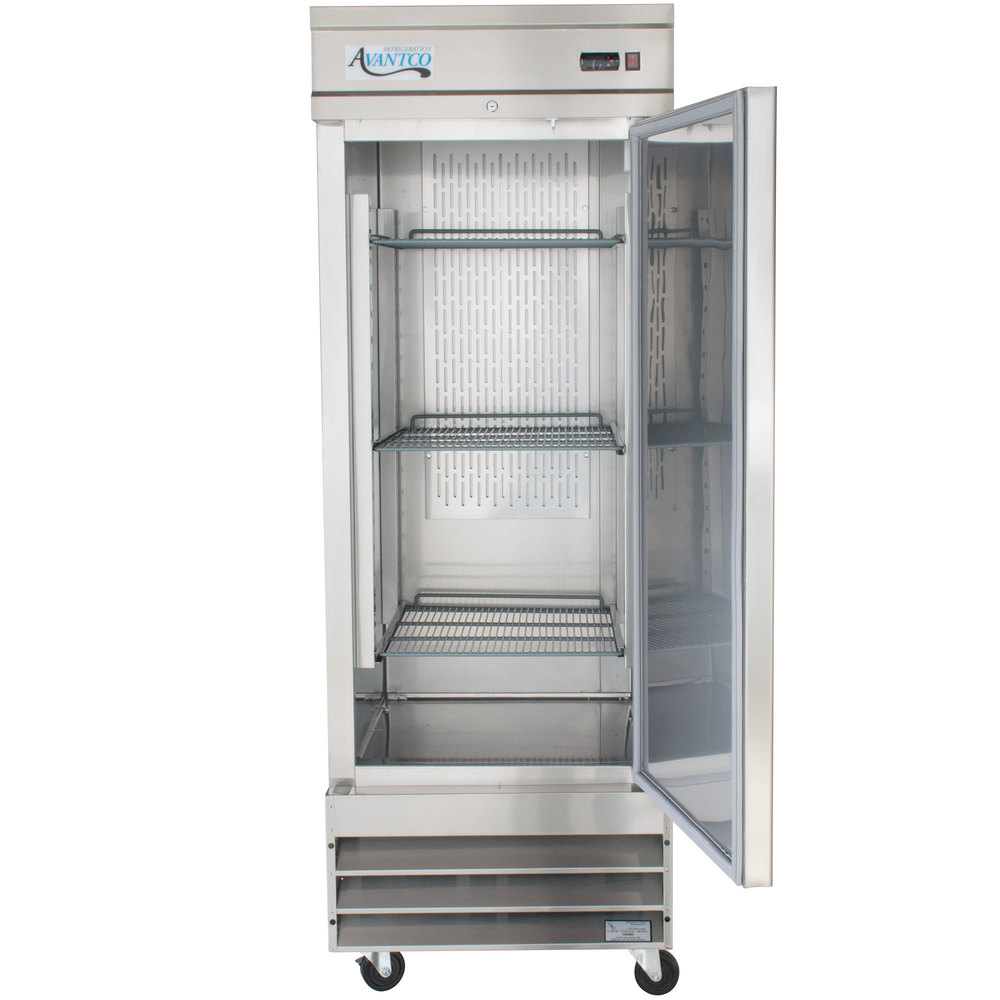 avantco cfd 1rr 29 one section solid door reach in refrigerator image preview