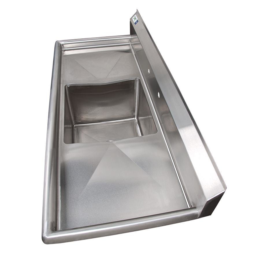 Stainless Steel One Compartment Commercial Sink with 2 Drainboards ...