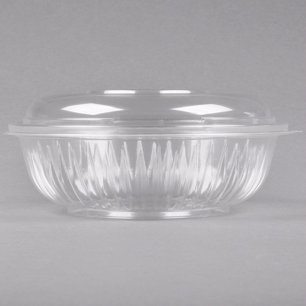 dart solo c24bcd presentabowls 24 oz clear plastic bowl with dome lid 126 case. Black Bedroom Furniture Sets. Home Design Ideas