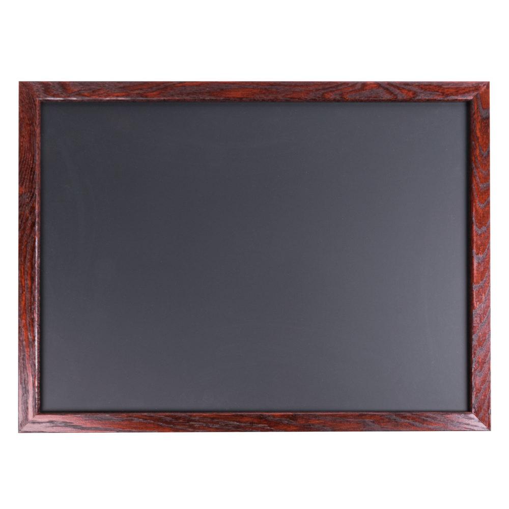 aarco 18 x 24 mahogany frame black chalk board. Black Bedroom Furniture Sets. Home Design Ideas