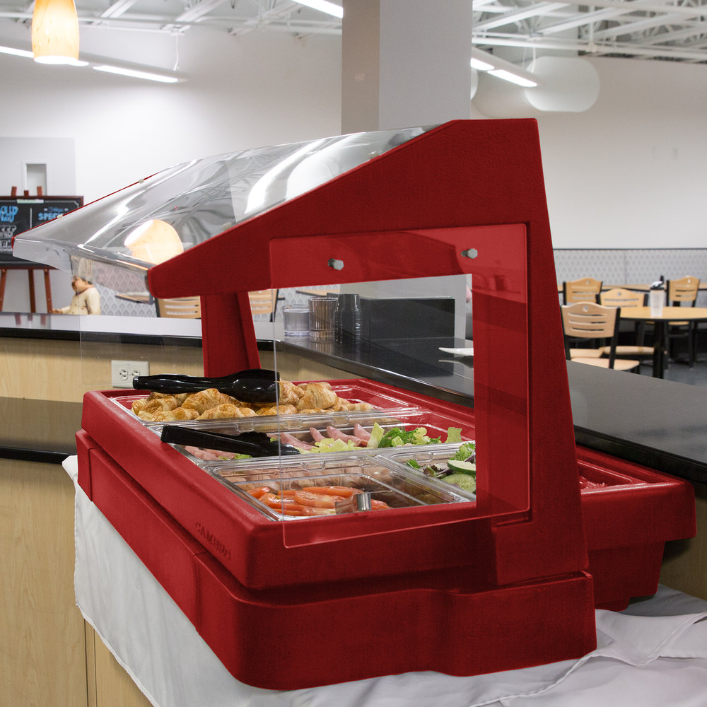 cambro bbr480158 48 x 24 x 25 red buffet salad bar. Black Bedroom Furniture Sets. Home Design Ideas