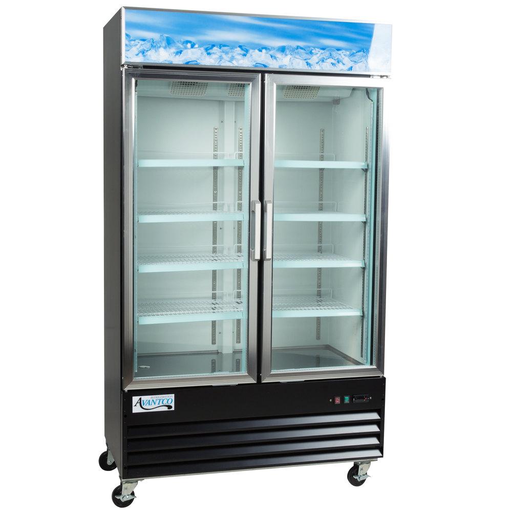 Avantco Gdc40 48 Quot Swing Glass Door Black Merchandiser