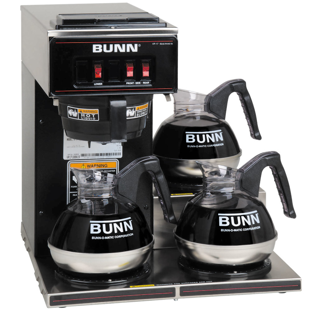 Coffee Maker Similar To Bunn : Bunn 13300.0013 VP17-3 Low Profile Pourover Coffee Brewer with 3 Warmers