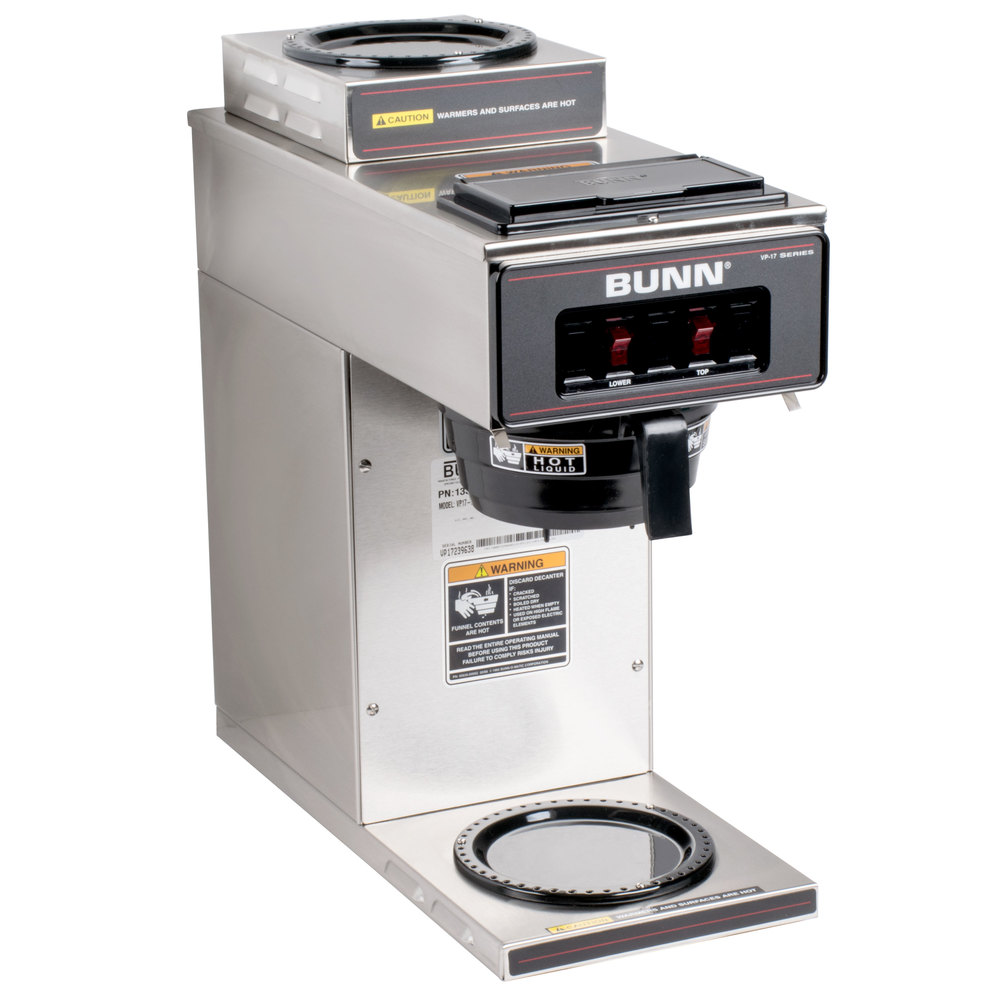 Bunn Coffee Maker Parts : Bunn 13300.0002 VP17-2 SS Low Profile Pourover Coffee Brewer with 2 Warmers
