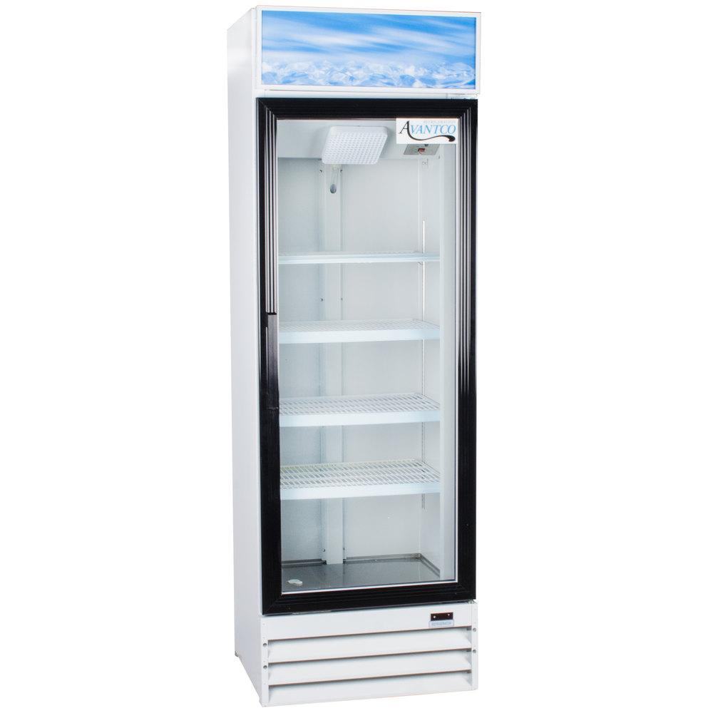 Avantco Gdc15 26 Quot Swing Glass Door White Merchandiser