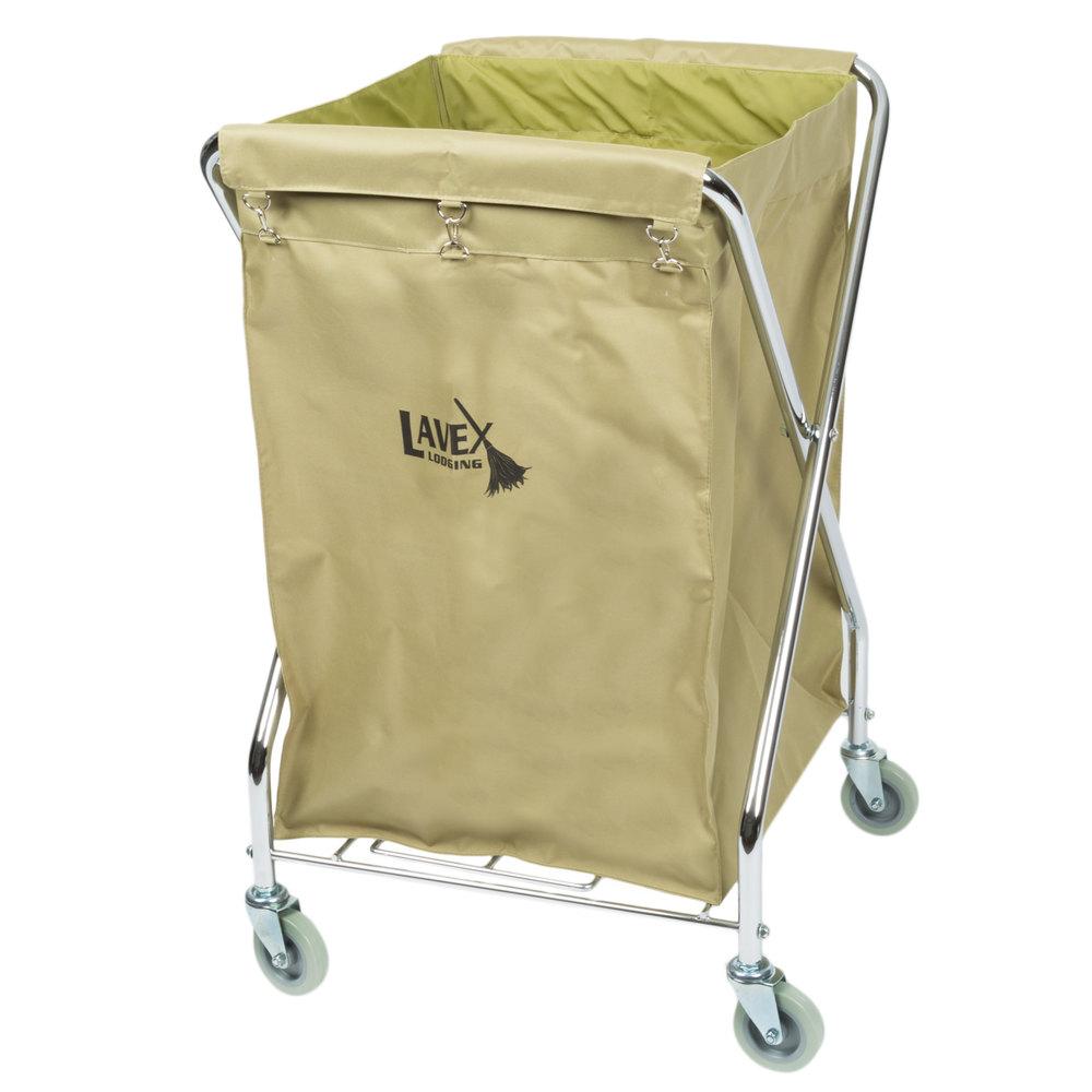 Lavex Lodging 10 Bushel Metal X Frame Folding Laundry Cart