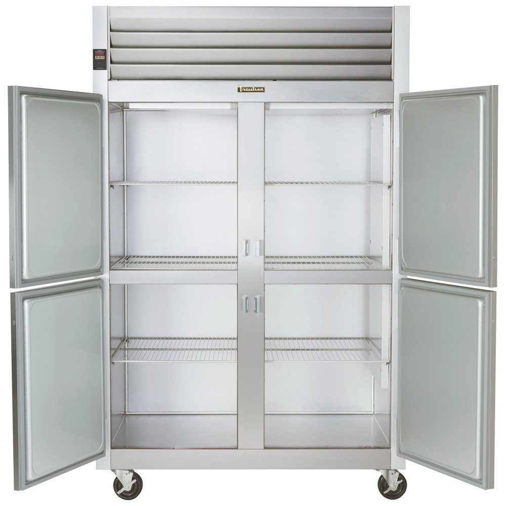 Hot Holding Cabinet Traulsen G24300 Solid Half Door 2 Section Hot Food Holding Cabinet