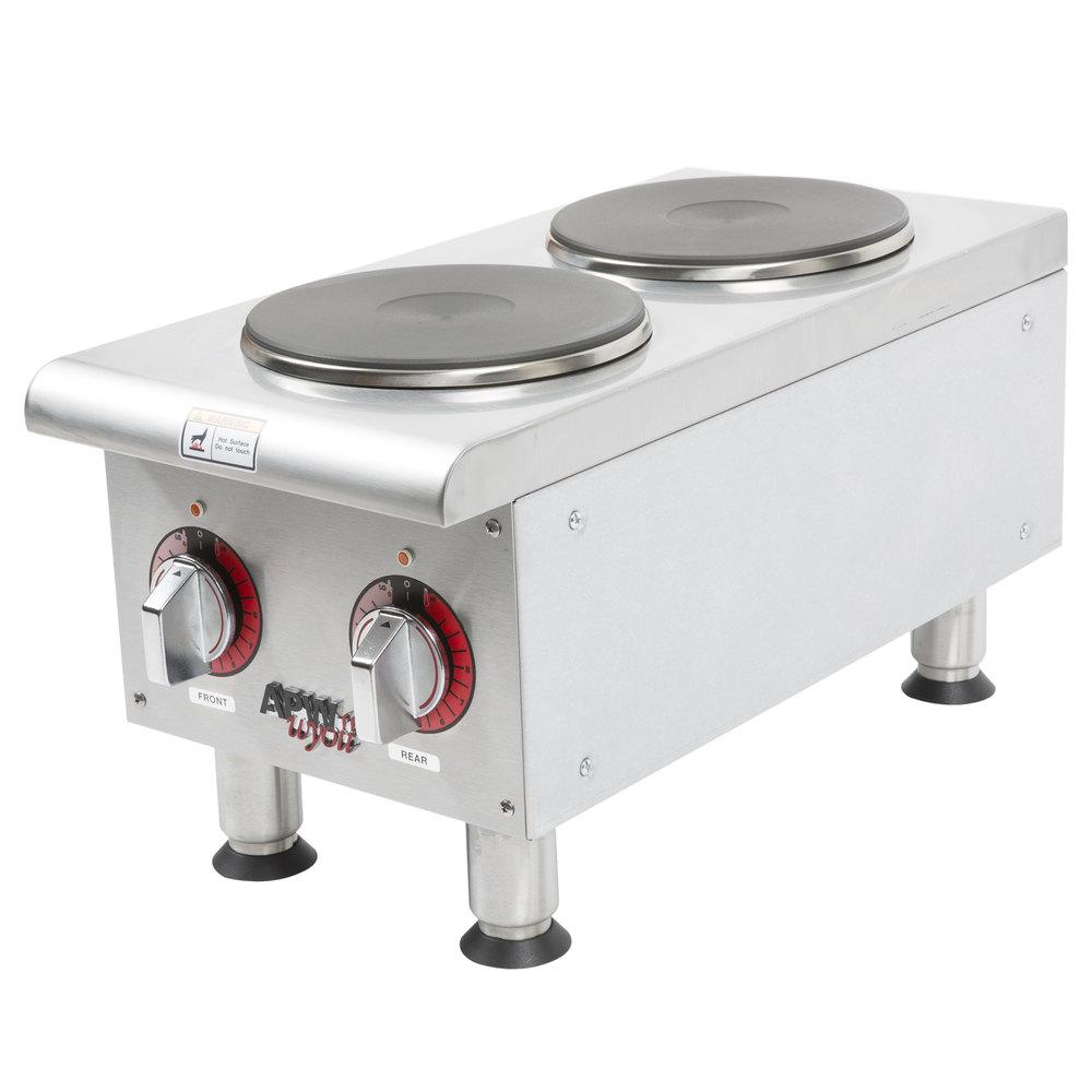 APW Wyott SEHPi Dual Solid Burner Countertop Electric Range