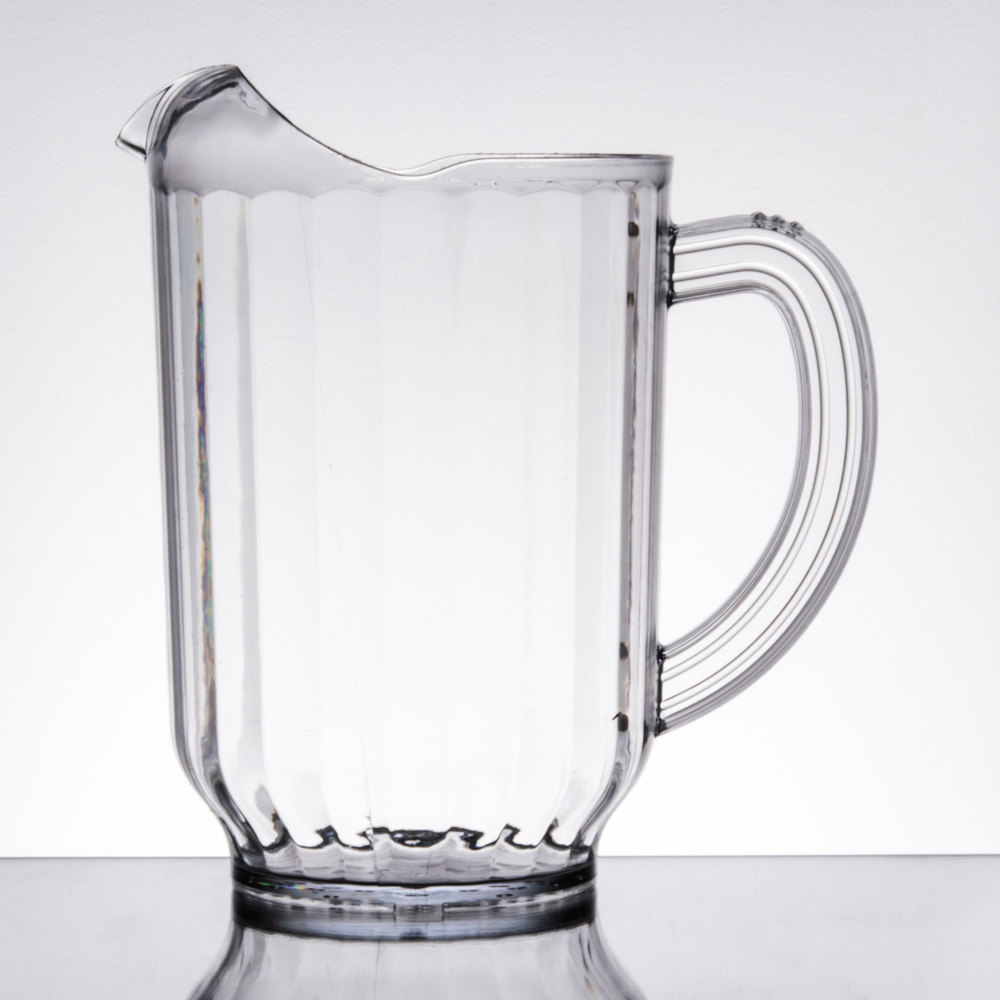 carlisle 554007 versapour 60 oz clear polycarbonate beverage pitcher. Black Bedroom Furniture Sets. Home Design Ideas