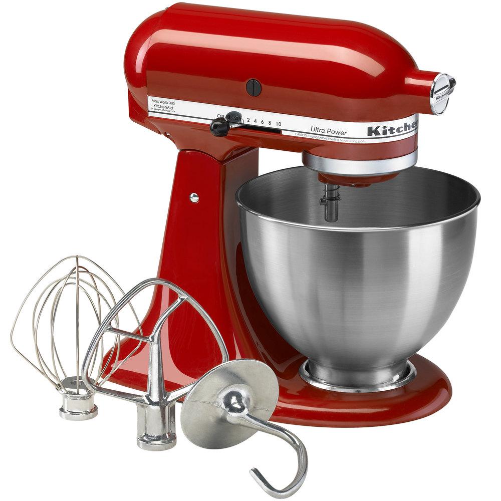 Kitchenaid ksm95er empire red ultra power series 4 5 qt countertop mixer - Kitchenaid qt mixer review ...