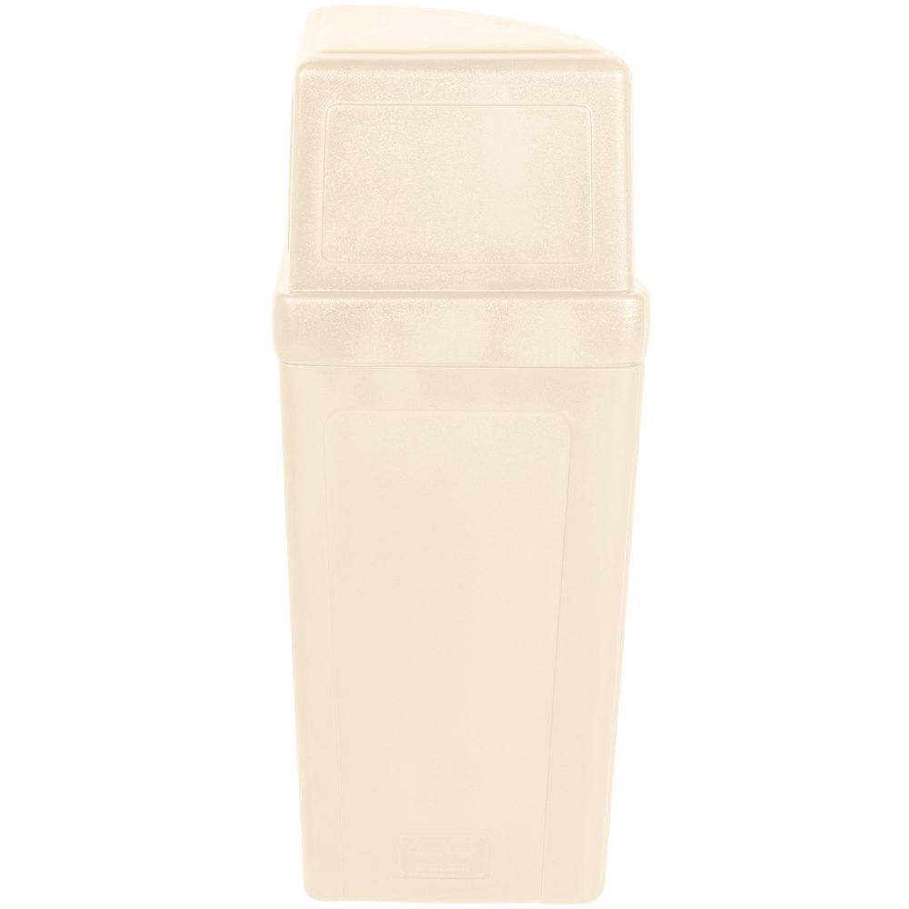 Continental 8325be corner 39 round 21 gallon beige corner trash can with dome lid - Corner wastebasket ...