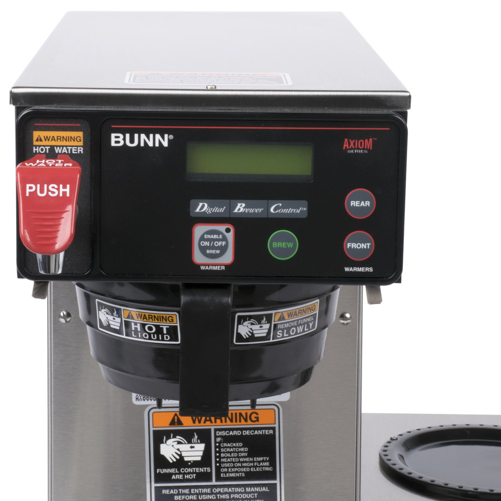 Bunn Coffee Maker With Auto Shut Off : Bunn 38700.0009 Axiom DV-3 Automatic Coffee Brewer with 3 Lower Warmers - Dual Voltage