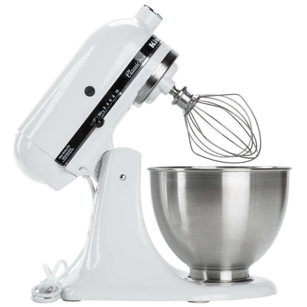 Countertop Mixer : KitchenAid KSM75WH White 4.5 Qt. Countertop Mixer