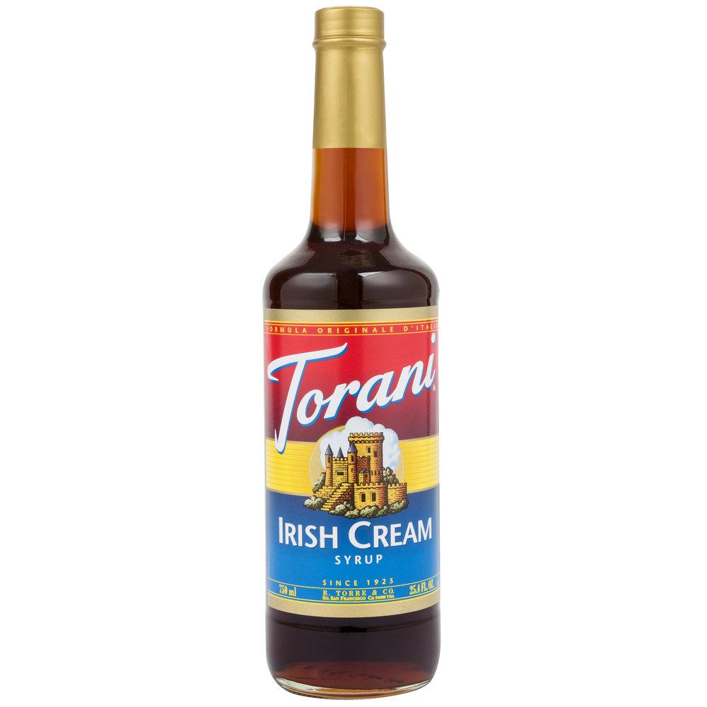 Torani 750 mL Irish Cream Flavoring Syrup