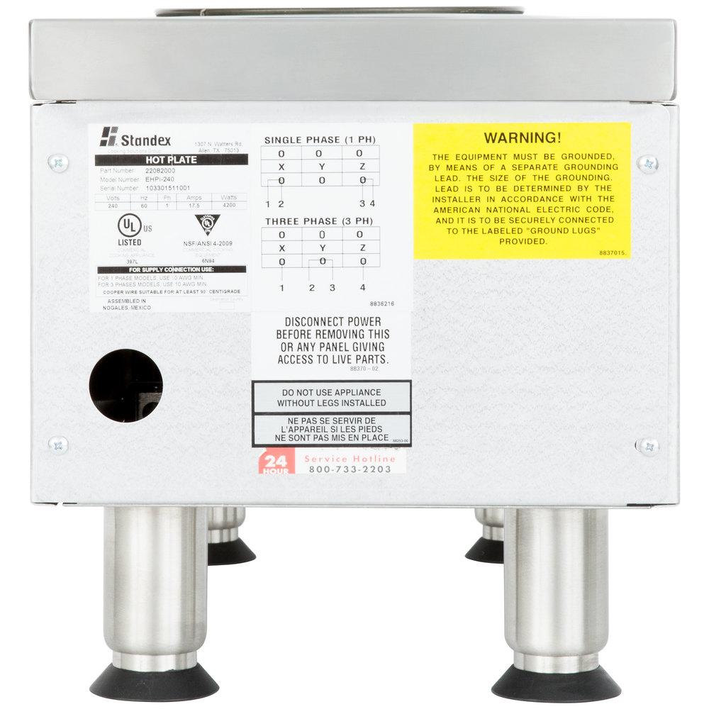 208 Volts APW Wyott EHPi Dual Burner Countertop Electric Range