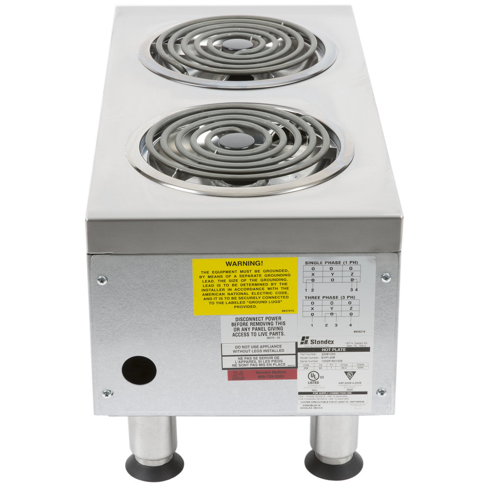 Countertop Stove Parts : 208V APW Wyott EHPi Dual Burner Countertop Electric Range