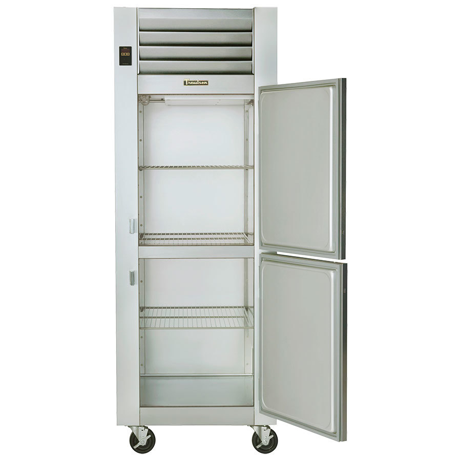 Hot Holding Cabinet Traulsen G14300 Solid Half Door 1 Section Hot Food Holding Cabinet