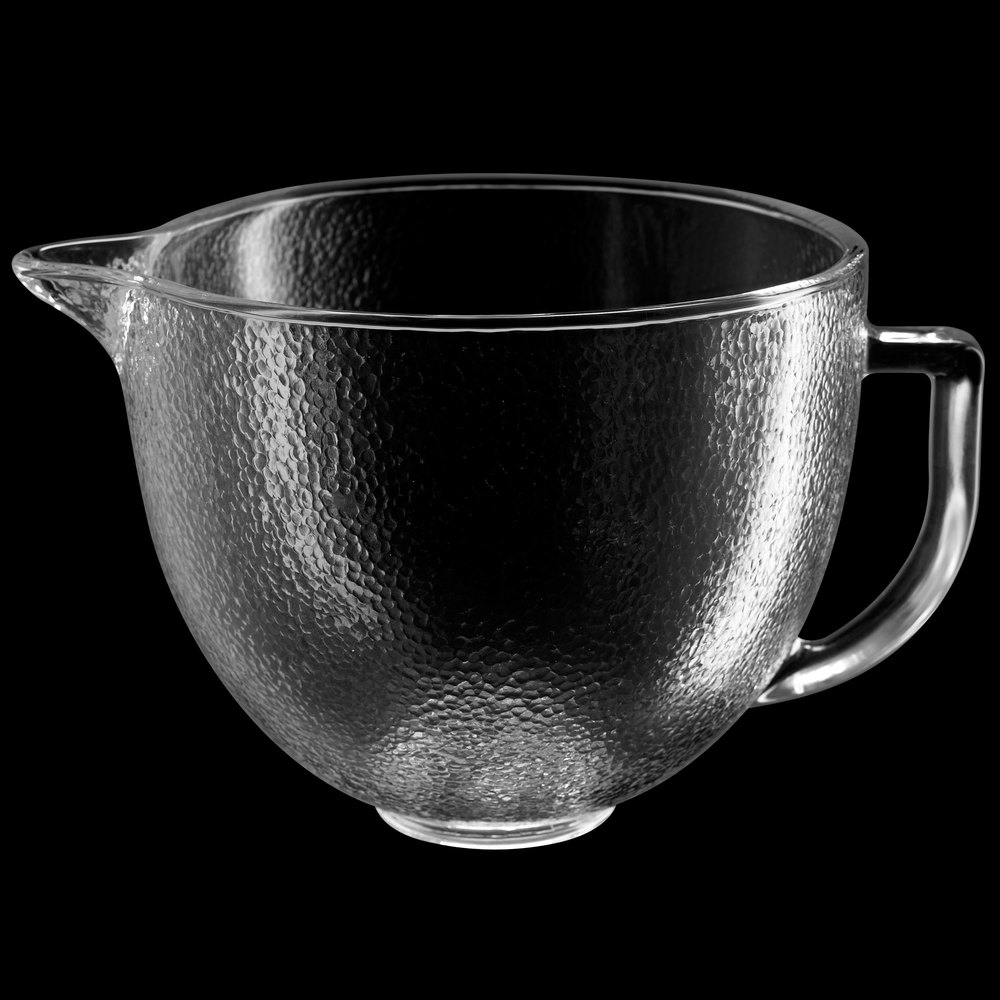 KitchenAid K5GBH 5 Qt. Hammered Glass Mixing Bowl With