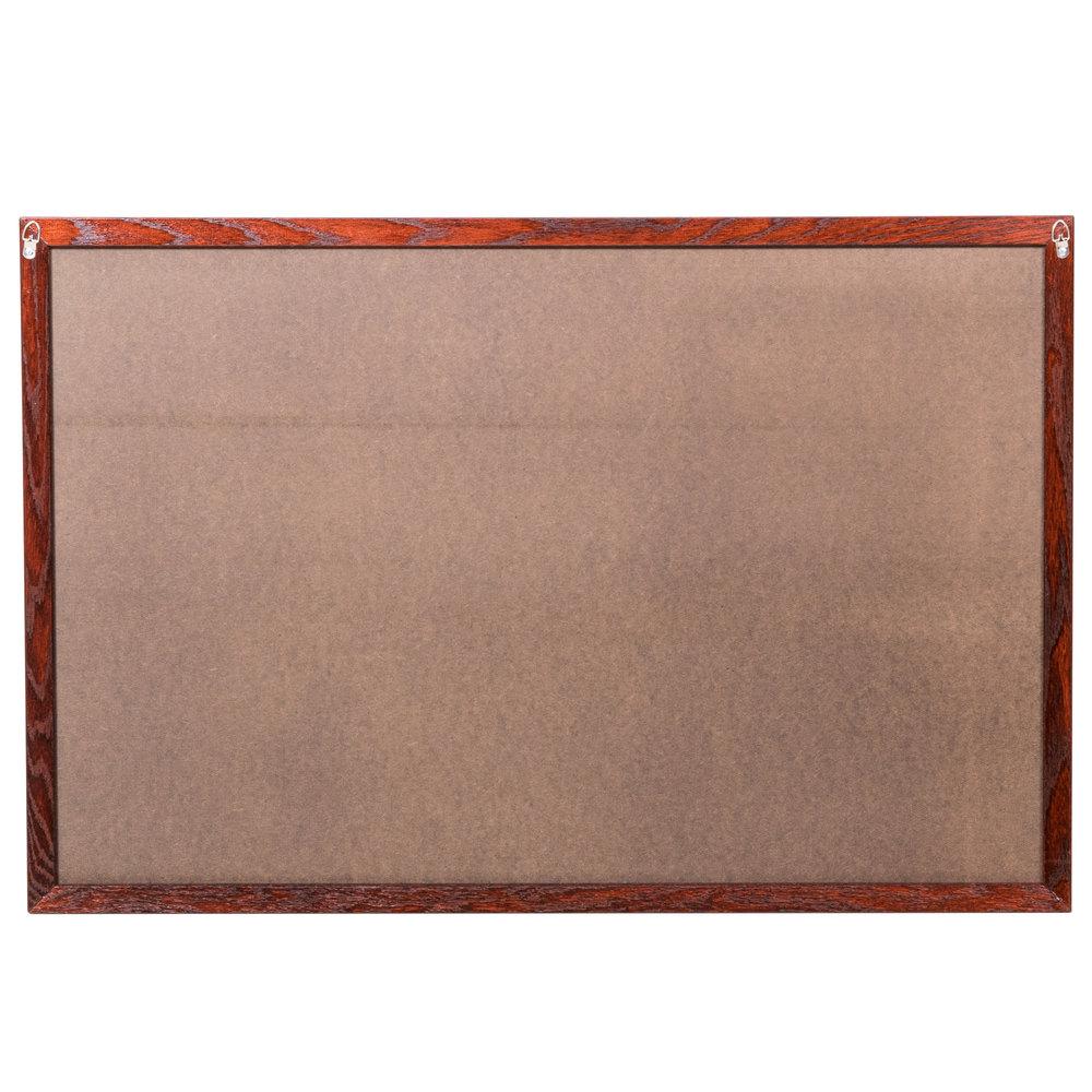 Aarco 24 X 36 Mahogany Frame Black Chalk Board