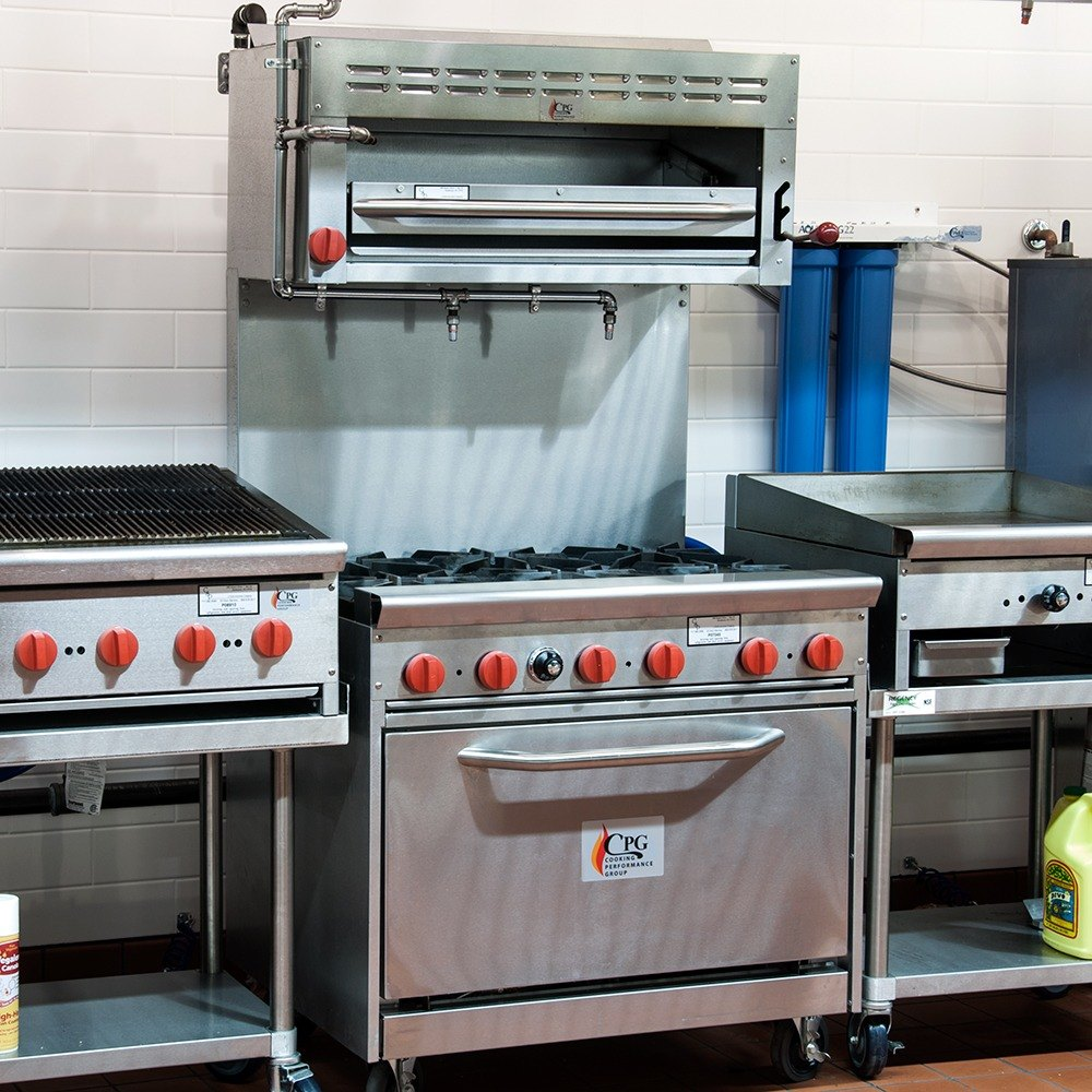 commercial range with salamander - Salamander Kitchen