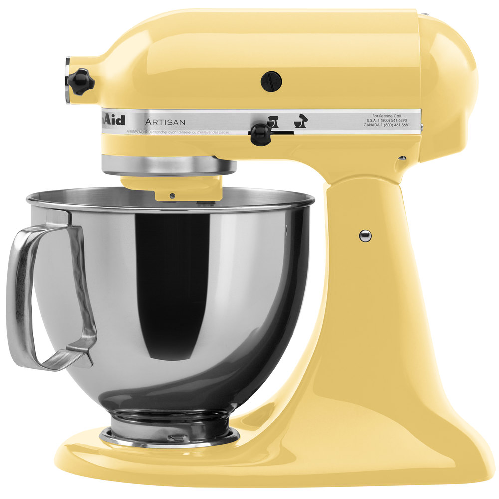 KitchenAid KSM150PSMY Majestic Yellow Artisan Series 5 Qt  # Kitchenaid Yellow