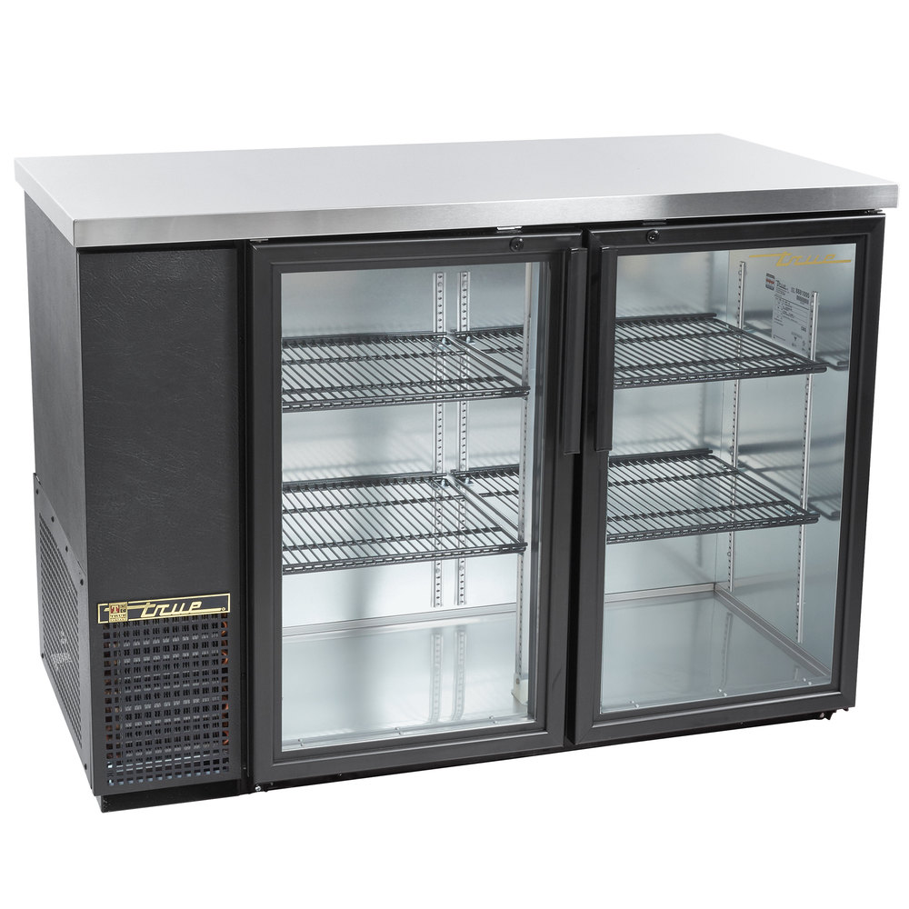 true tbb 24 48g ld 49 glass door back bar refrigerator with led lighting 24 deep. Black Bedroom Furniture Sets. Home Design Ideas