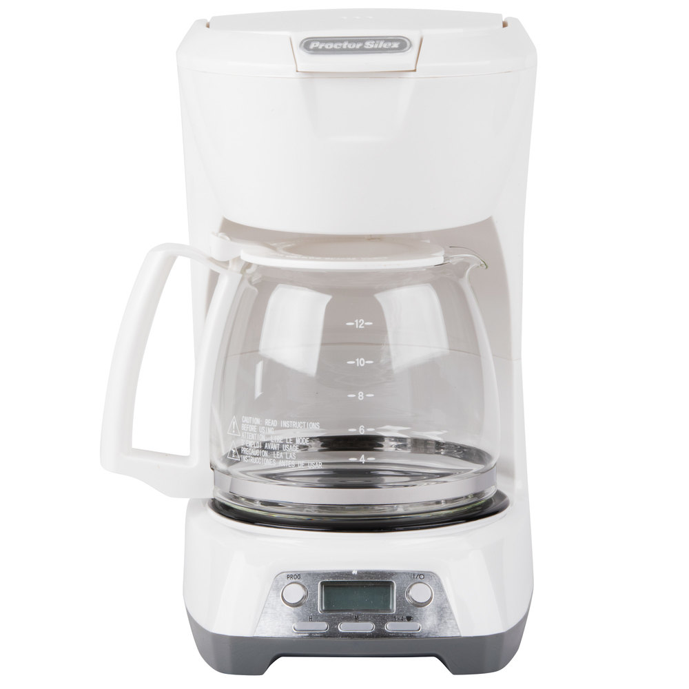 Proctor Silex 43671 White Programmable 12 Cup Coffee Maker with Auto Shut Off