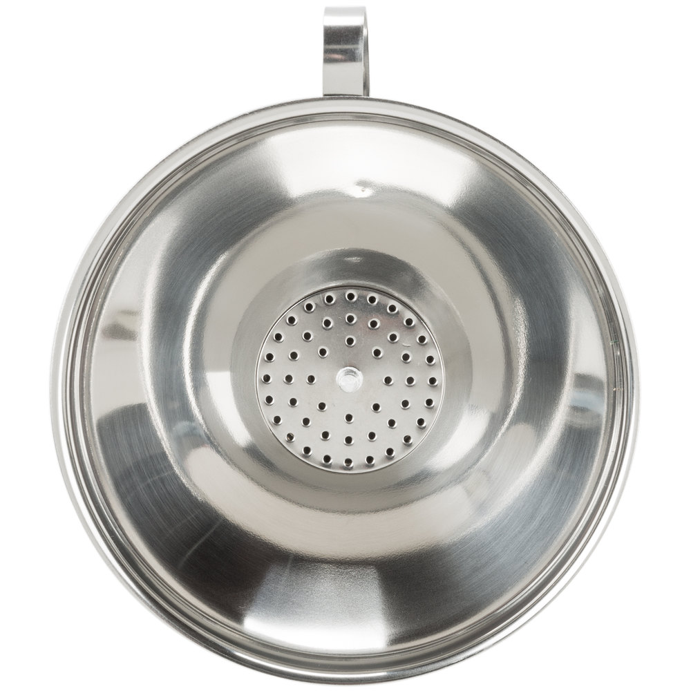 16 Oz Stainless Steel Funnel With Strainer