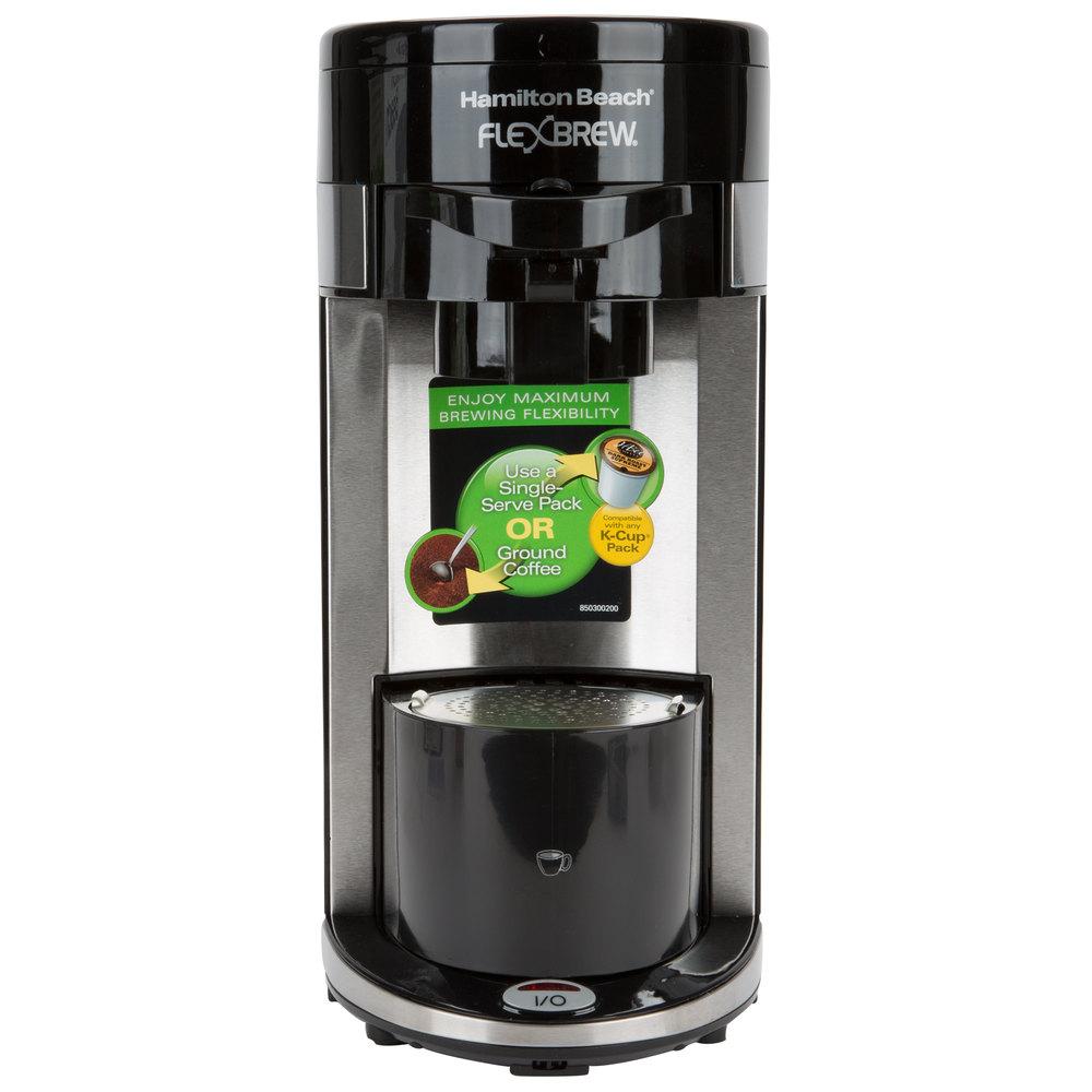 Hamilton Beach Coffee Maker ~ Hamilton beach black flexbrew single serving coffee