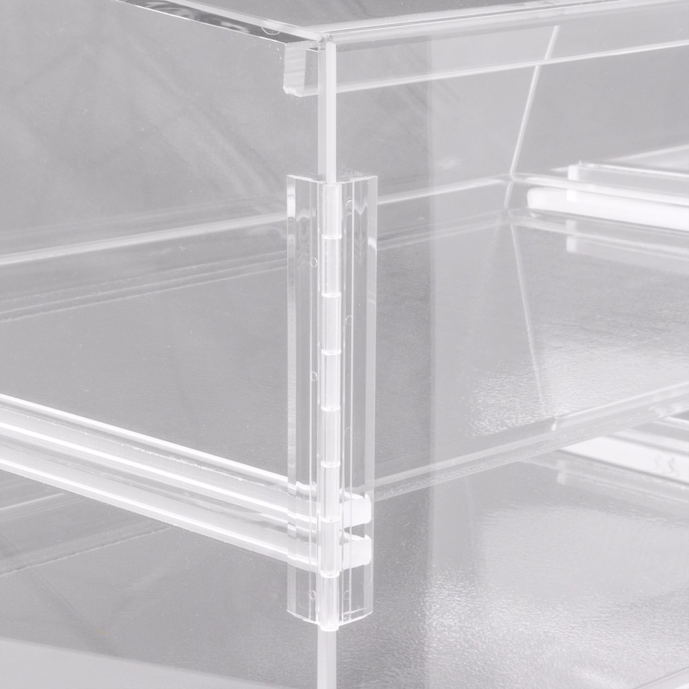 cal mil p254 three tier slanted front acrylic display case 2