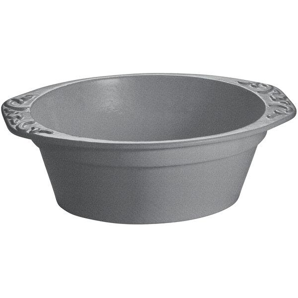 Tablecraft CW1420GR 3.5 Qt. Granite Cast Aluminum Small Oval Casserole Dish