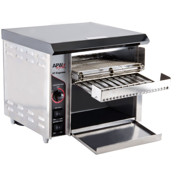 Mini Conveyor Toaster ~ Apw wyott at express conveyor toaster with quot opening